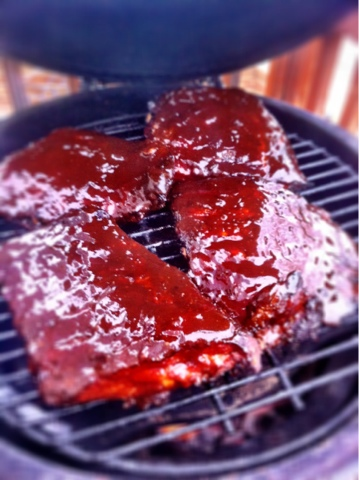 Pork Spare Ribs on the Big Green Egg