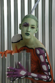 Butterfly Design Body Painting Pictures