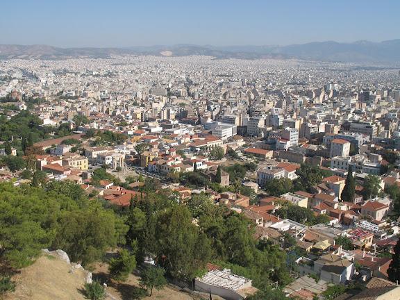Vista general de Atenas desde la Ácropolis