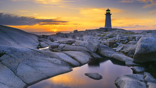 Peggy's Cove Lighthouse at Dusk, Nova Scotia, Canada.jpg