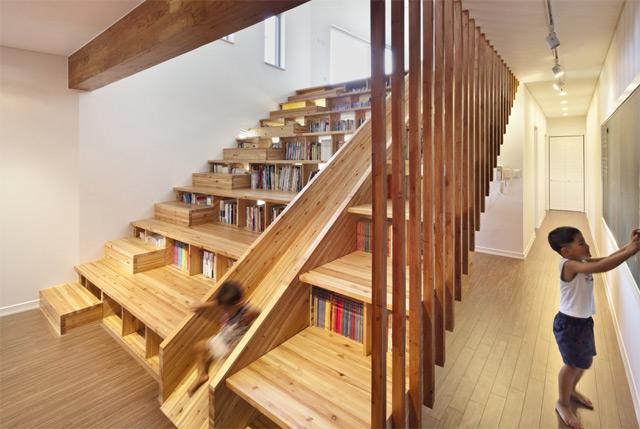 *首爾 Moon Hoon 全景六角形建築設計:溜滑梯+樓梯+書櫃強大結合! 4