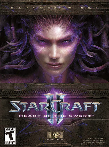 Cover Of StarCraft II Heart of the Swarm Full Latest Version PC Game Free Download Resumable Links at Alldownloads4u.Com
