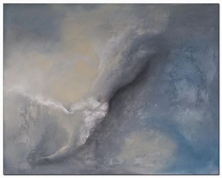 Acrylbilder mit Struktur als handgemalte Acrylbilder von Slavova Art. Das Acrylbild Sky abstrakt is ein handgemaltes Acrylbild.