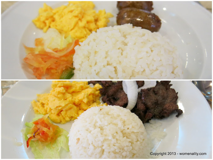 Golden Pine Breakfast - Longanisa and Beef Tapa Baguio City Philippines