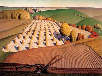 1931, Grant Wood, Fall plowing