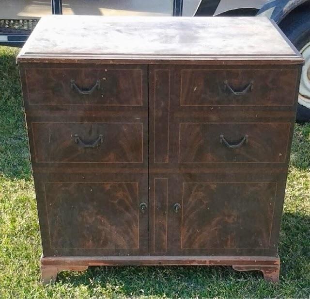 Repurposed Vintage Record Cabinet