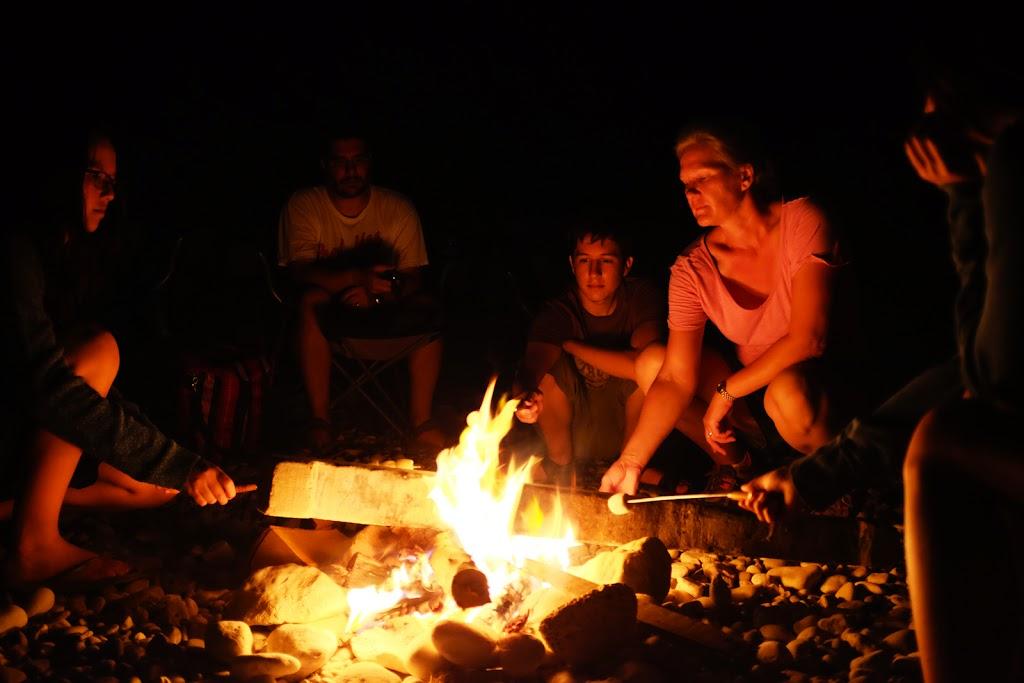 Tiwi beach campfire