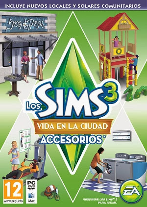Carátula Vida en la ciudad Sims 3
