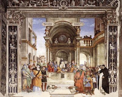 Triunfo de Santo Tomás de Aquino (Filippino Lippi, c1480, Santa María sopra Minerva, Roma)