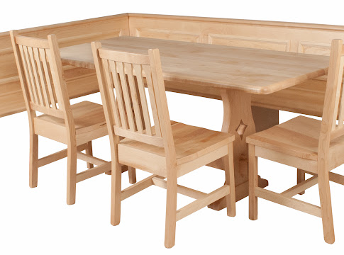 handcrafted kitchen nook tables from erik organic - Kitchen Nook Table