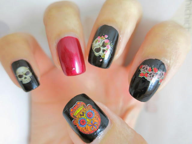Skull Water Decal Nail Art BOP076