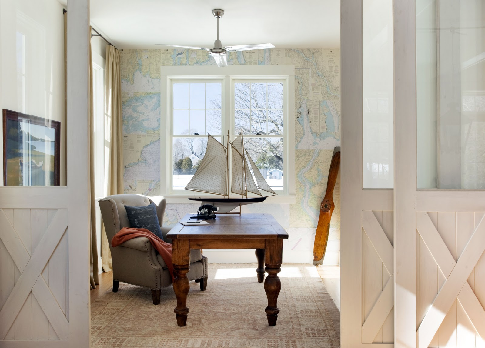 How to use nautical charts to map out a feature wall
