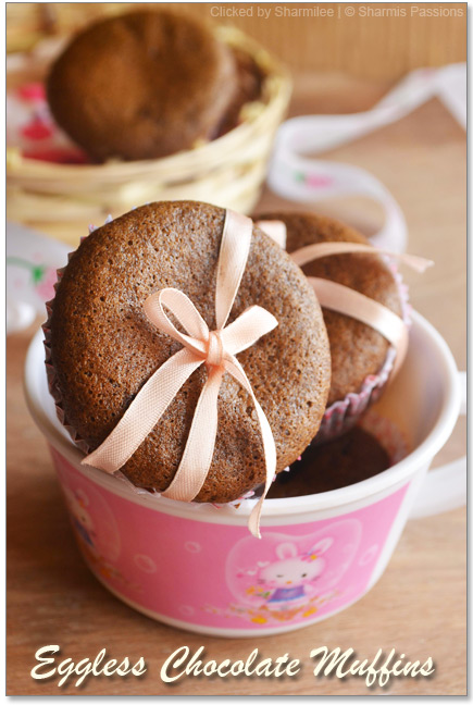Eggless Chocolate Muffins Recipe