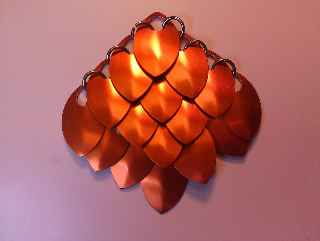 Front view of standard scalemaille