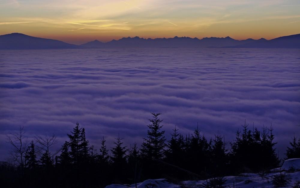 Morze chmur i Tatry