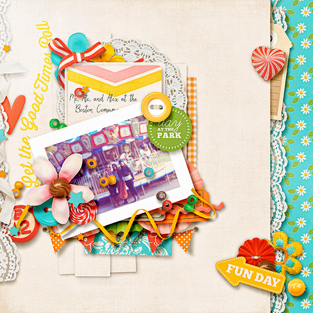 Fun Day // 12x12 // Cindy's Layered Templates: Trio Pack 10 - Just for Journaling 8 by Cindy Schneider