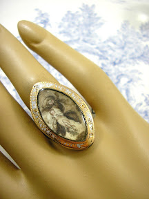 Georgian Mourning Ring 15ct Gold Rare Angel of Death dated 1784