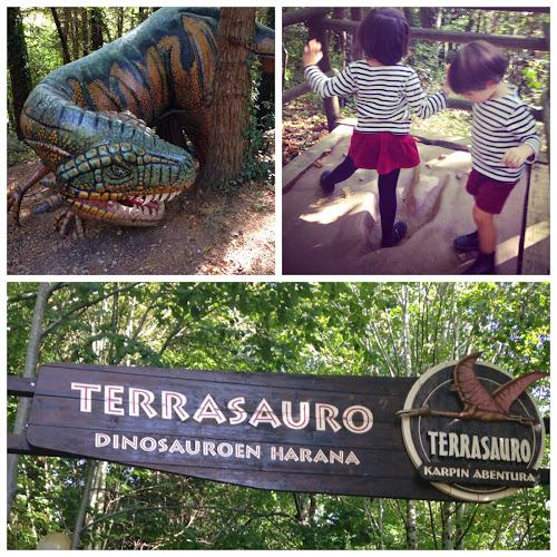 Fin de semana entre dinosaurios y animales en el parque El Karpin (Valle de Carranza)
