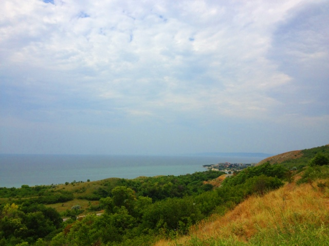 Picture of the Black Sea coast near Balchik in Bulgaria.