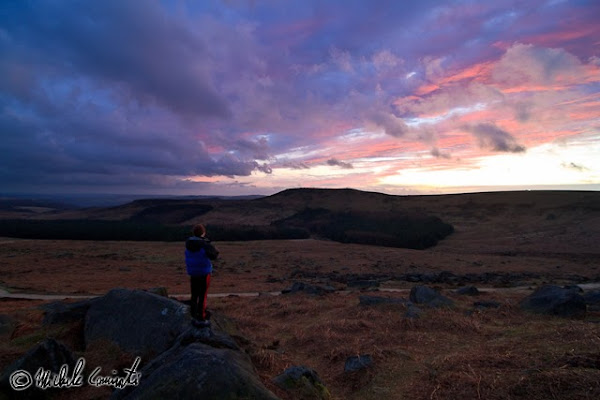 Burbage north sunset