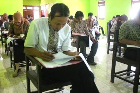 Hari ini terkait jalannya ujian perangkat desa Teguhan Ngawi
