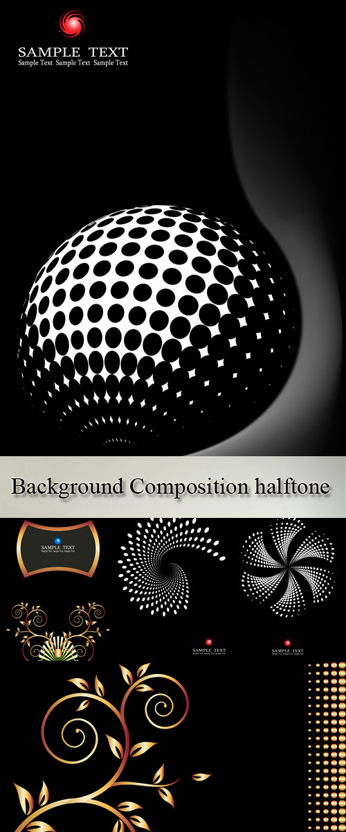 Vector - Set 5 Background Composition halftone
