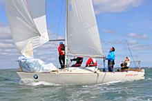 J/24 sailing downwind in Ireland