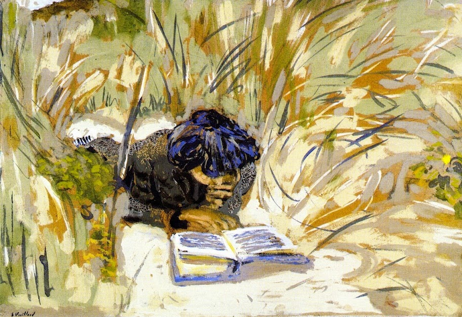 Édouard Vuillard - Woman Reading in the Reads, Saint-Jacut