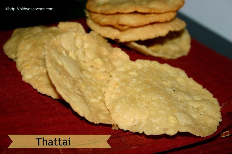 Thattai Recipe with stepwise pictures