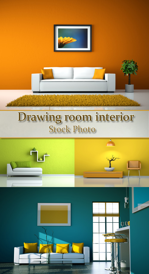 Stock Photo: Drawing room interior