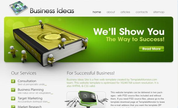Business Jquery Green CSS Website Template