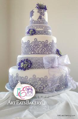 Star Wars Wedding Cake 54 Simple Purple edible elegant romantic