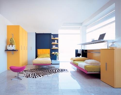 Decora y disena cama juvenil para espacios peque os - Cama para espacios reducidos ...