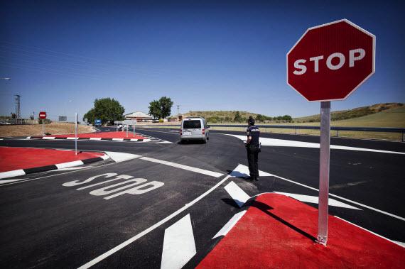 Nuevo acceso al Polígono Los Frailes de Daganzo de Arriba en la carretera M-118