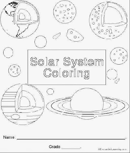 Solar Coloring Pages Coloring Pages of Solar System