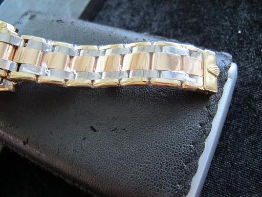 Bán đồng hồ rolex day date tridor 18948 – dòng dây 3 màu – mặt số thiên thạch – 39mm – vành hạt xoàn