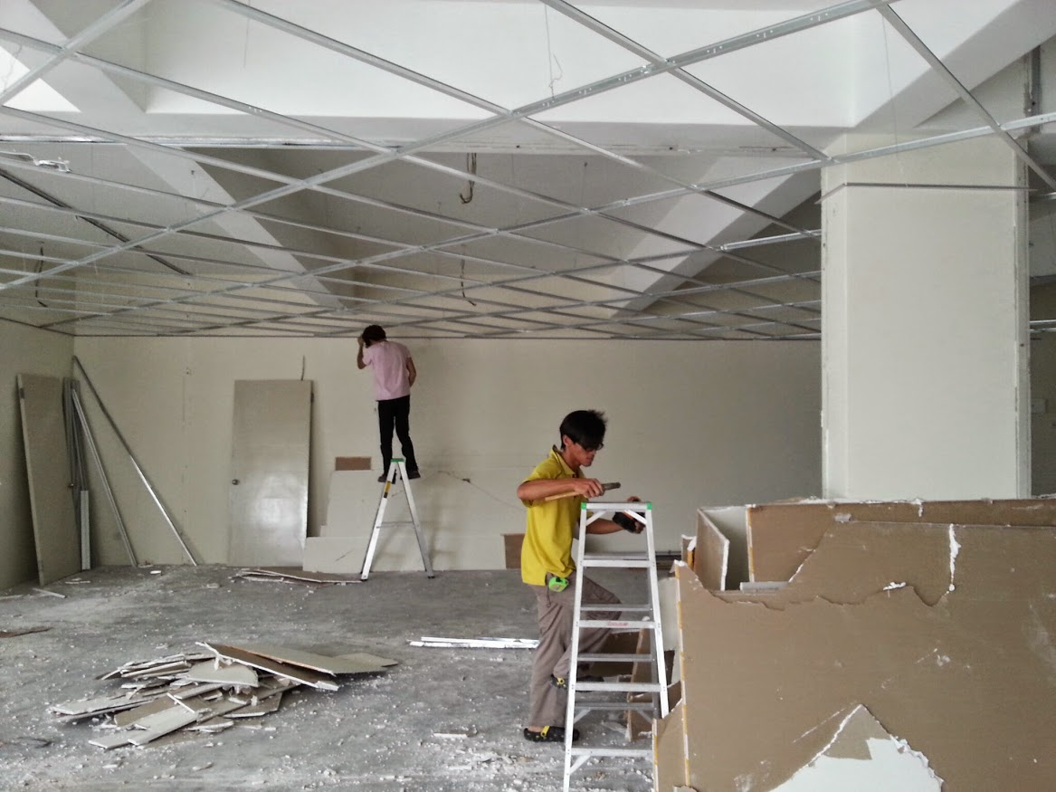 installing ceiling frame
