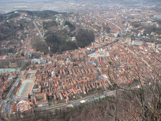 Looking down on Brasov