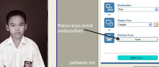 Tekan tombol scan