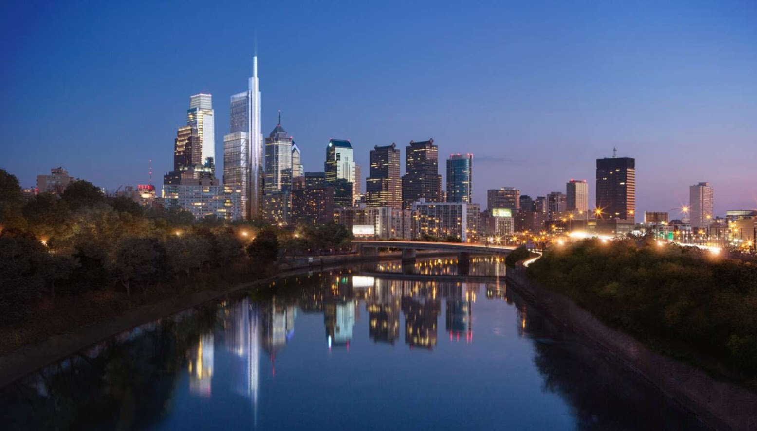 Philadelphia, USA: [COMCAST INNOVATION AND TECHNOLOGY CENTER BY FOSTER + PARTNERS]