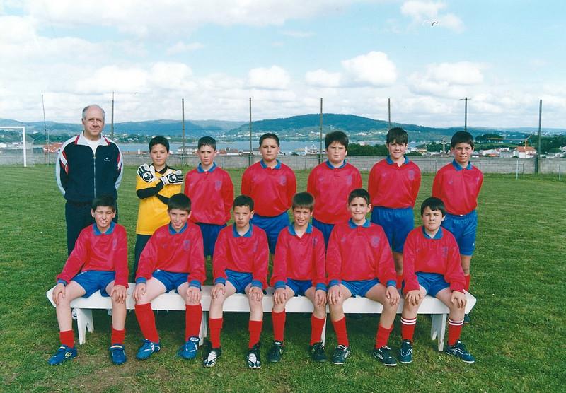 A.D.R. Numancia de Ares. Alevíns 2002-2003 Juan Daniel (Adestrador), Alberto, Alex Permuy, -----, Rubén, Moncho, Manu Chao -----, Carlos, Jorge, Julio, Jacobo, Gonzalo Prados Vellos  (Ares)