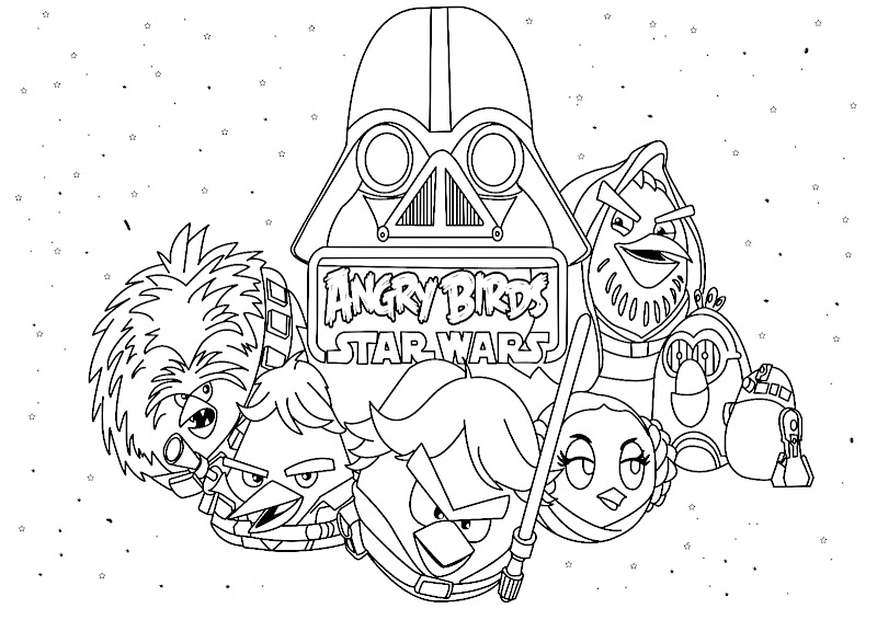 Angry Birds Star Wars coloring pages, printables pages for kids
