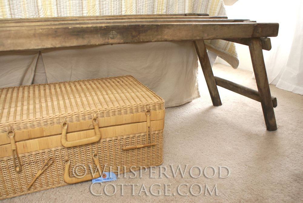 WhisperWood Cottage: Wash Tub Stand as a Luggage Rack (and other ...