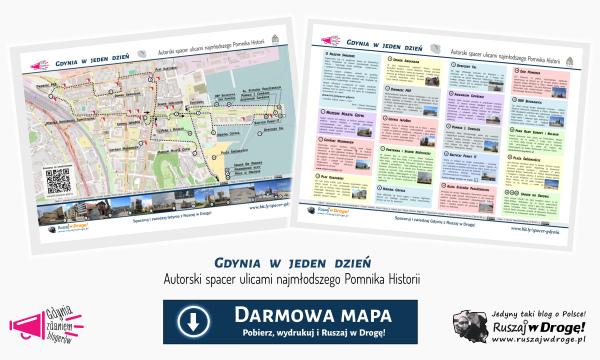 Mapa spaceru ulicami gdyńskiego Pomnika Historii