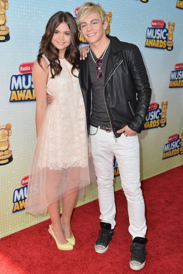 Actors Maia Mitchell and Ross Lynch arrive to the Radio Disney Music Awards at Nokia Theatre, L.A.