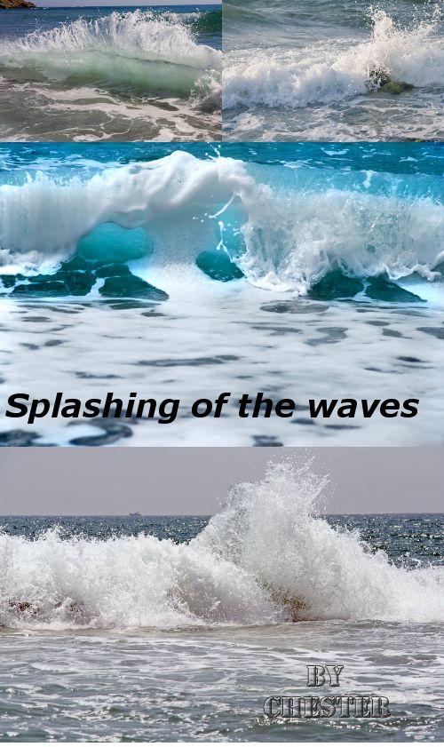 Stock Photo: Splashing of the waves