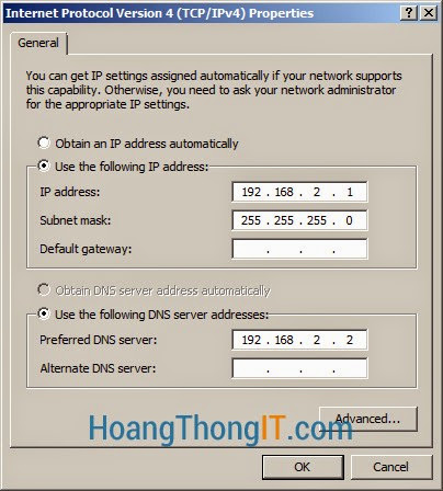 Cấu hình Routing and Remote Access