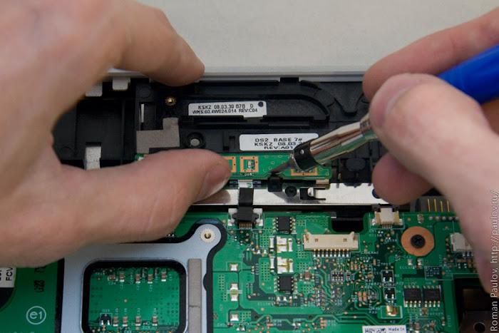Как разобрать ноутбук Dell Inspiron 1525 34f
