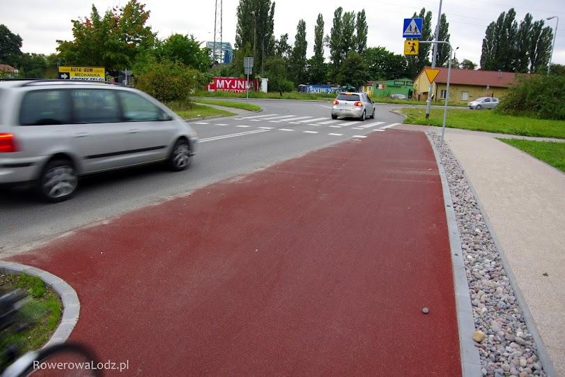 Włączenie drogi dla rowerów w jezdnię.