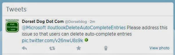 #outlookDeleteAutoCompleteEntries Microsoft Outlook.com